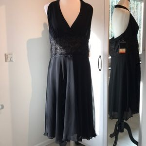 NWT Scarlett black halter dress